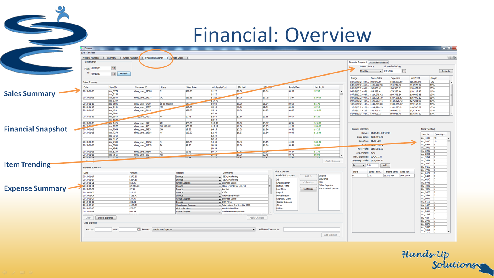 Gamut Financial Manager Screenshot