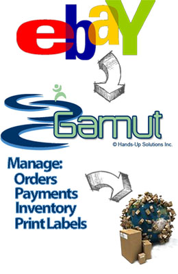 Manage eBay Orders Payments Inventory and Print Labels through Gamut